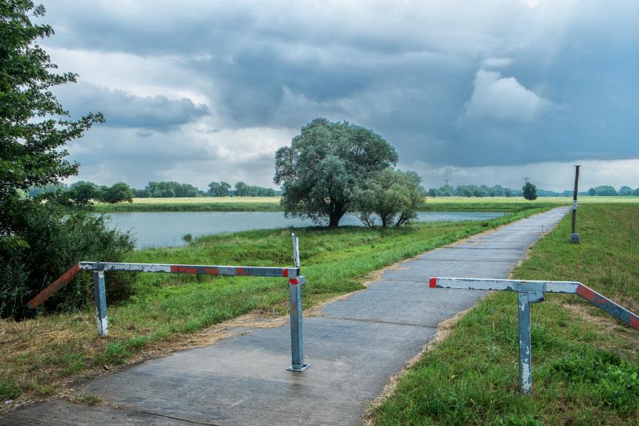 Wittenberge - Einstieg in den Elberadweg