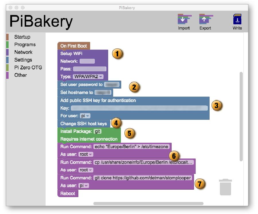 PiBakery Beispielkonfiguration