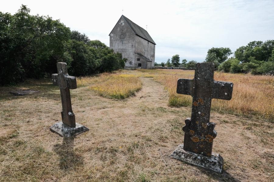 Öland Källa Gamla Kyrka - Friedhof