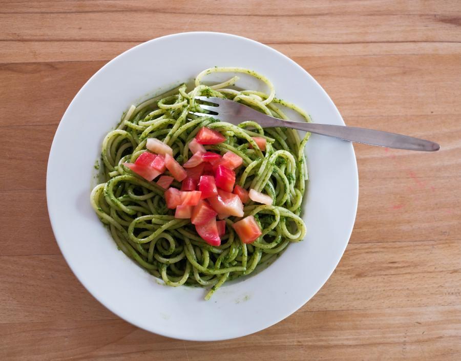 Spaghetti mit Rote Bete Pesto