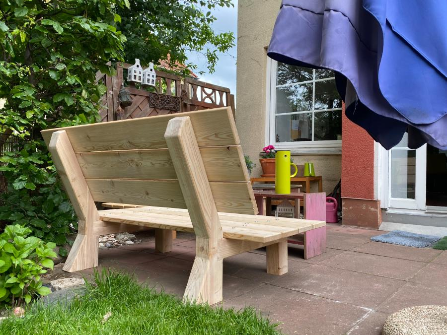 DIY Gartenbank