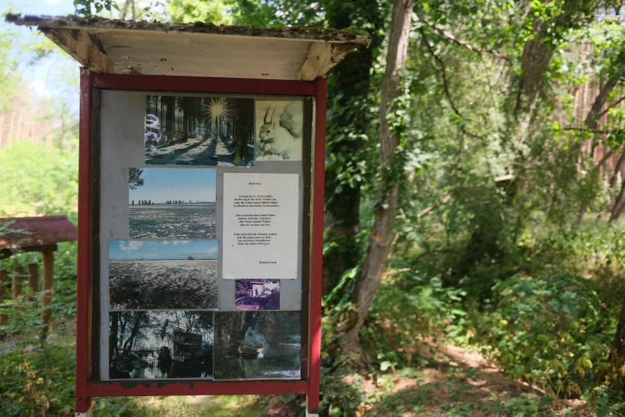 Naturlehrpfad mit Poesie bei Brück - Potsdam Mittelmark