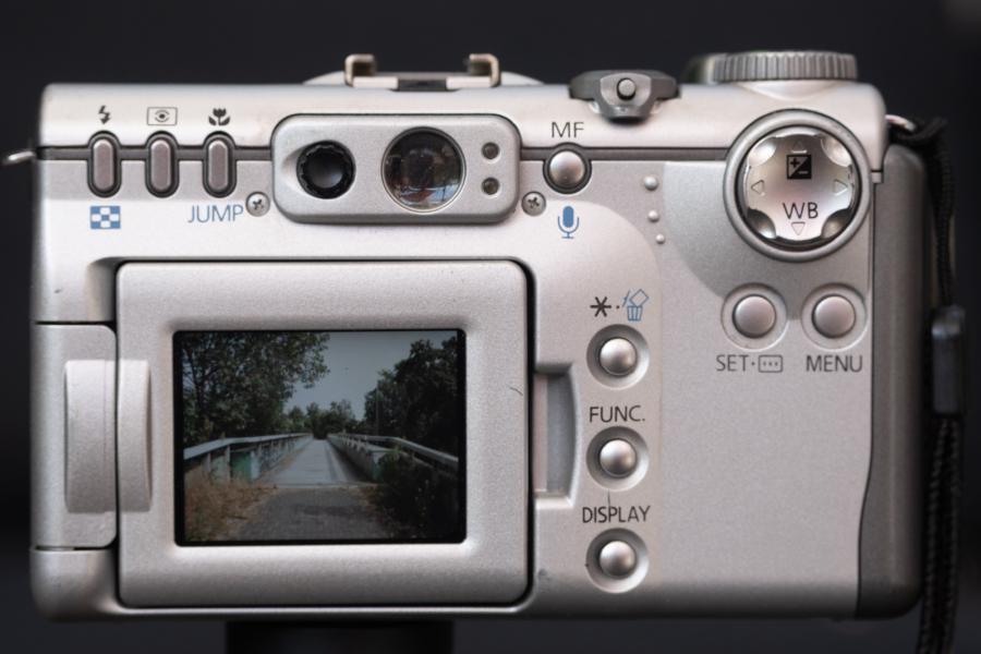 Canon Powershot G3, Rückseite