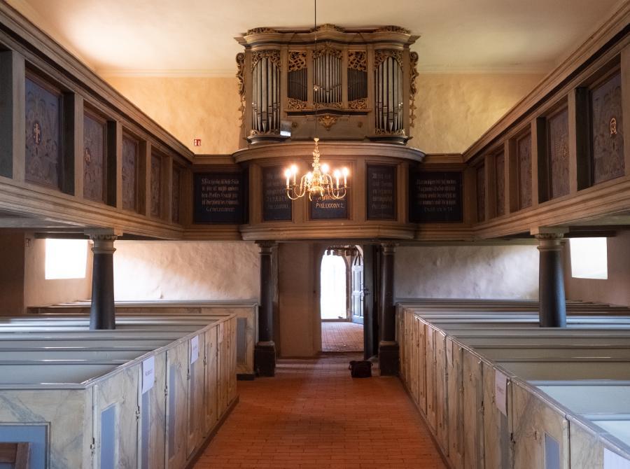 Empore und Orgel von Johannes Wagner (1741), Kirche Bötzow