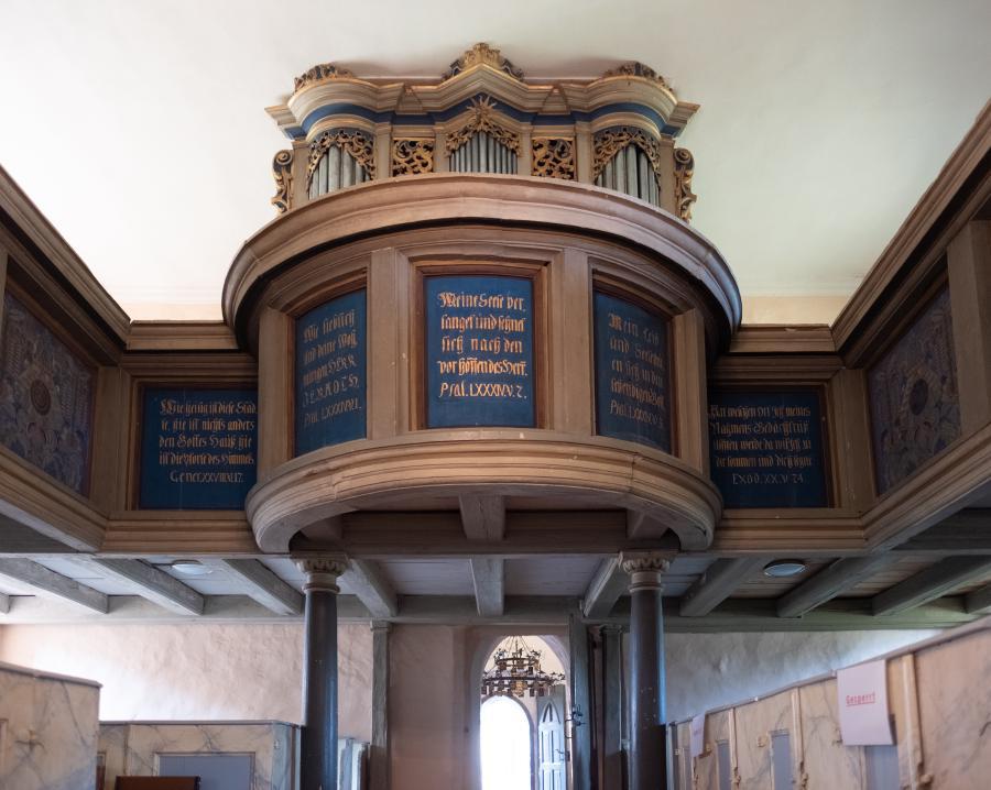 Detailansicht Empore, Kirche Bötzow