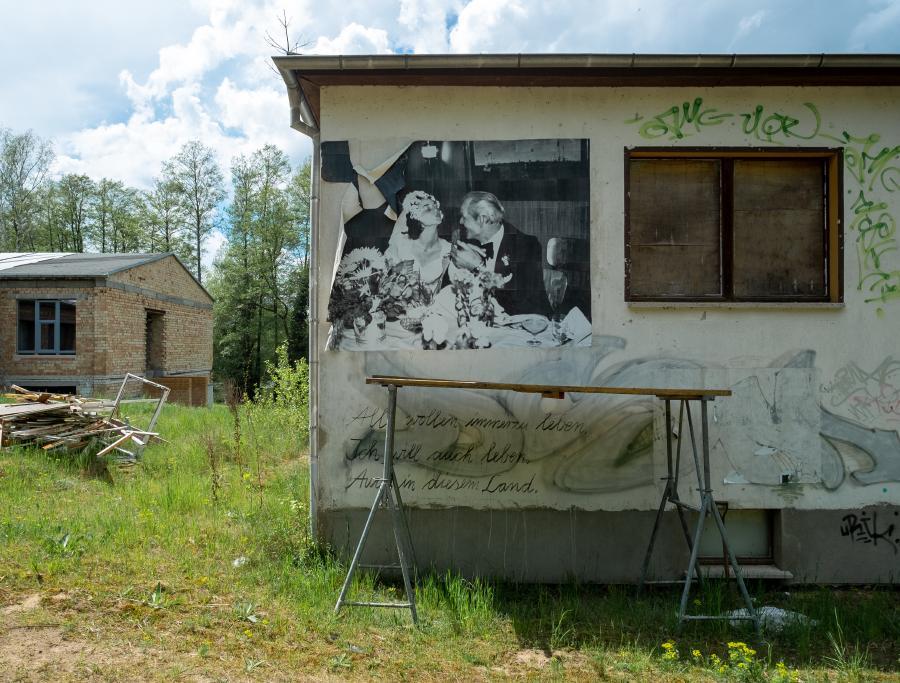 Alle wollen immerzu leben - Baustelle am Ufercafe am See